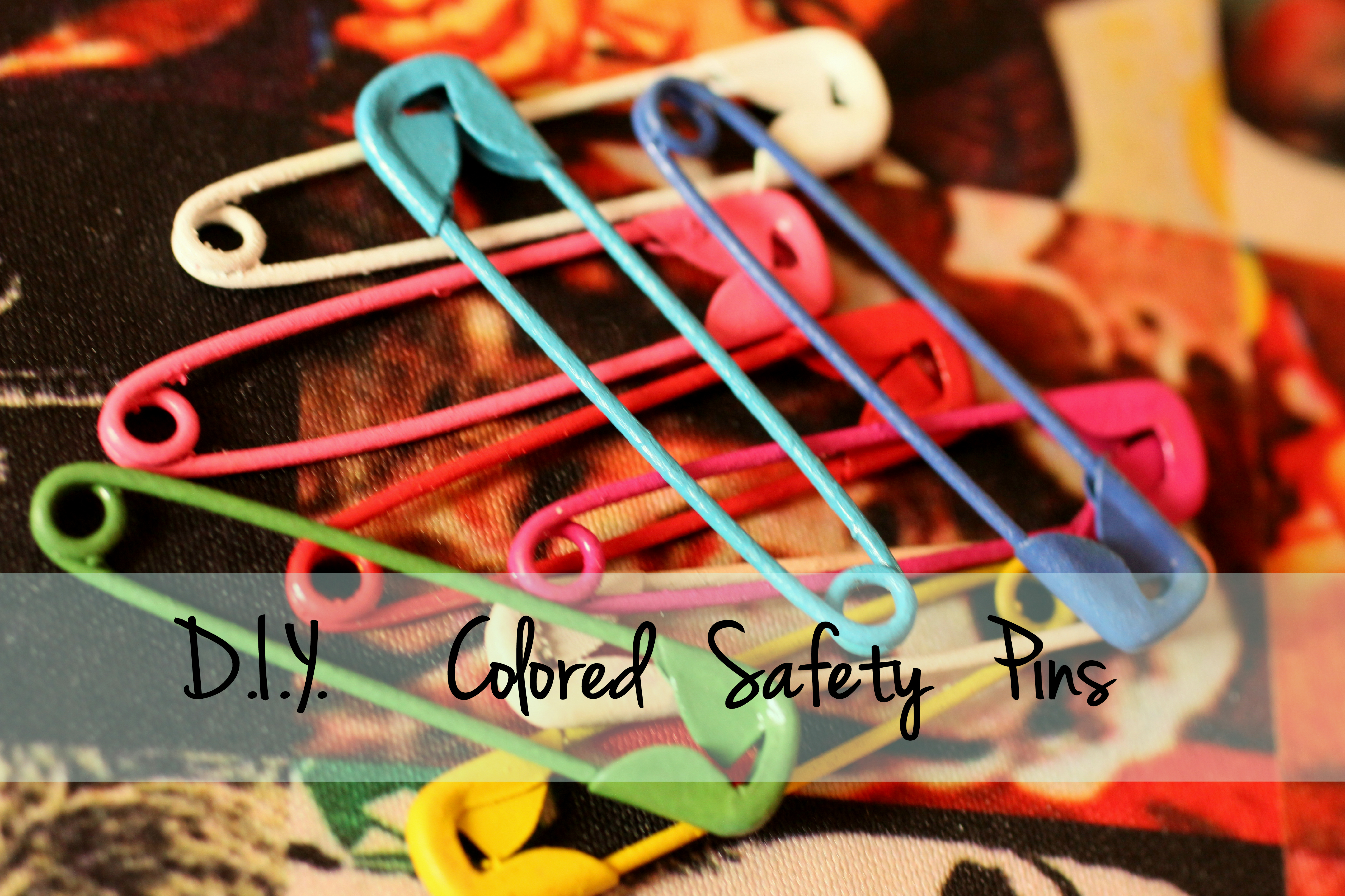 Colored Safety Pins DIY