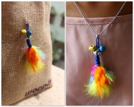 Feather Necklace DIY
