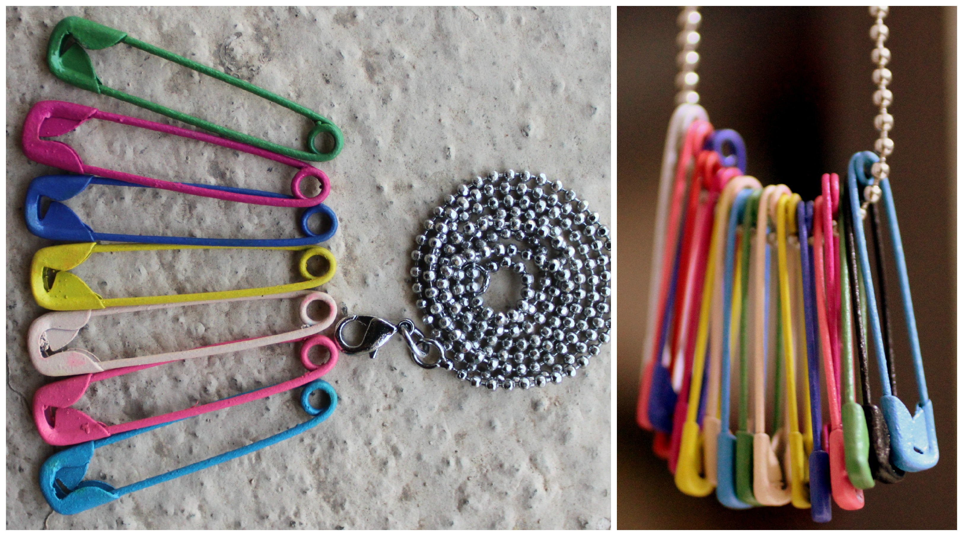 Safety Pin DIY Necklace