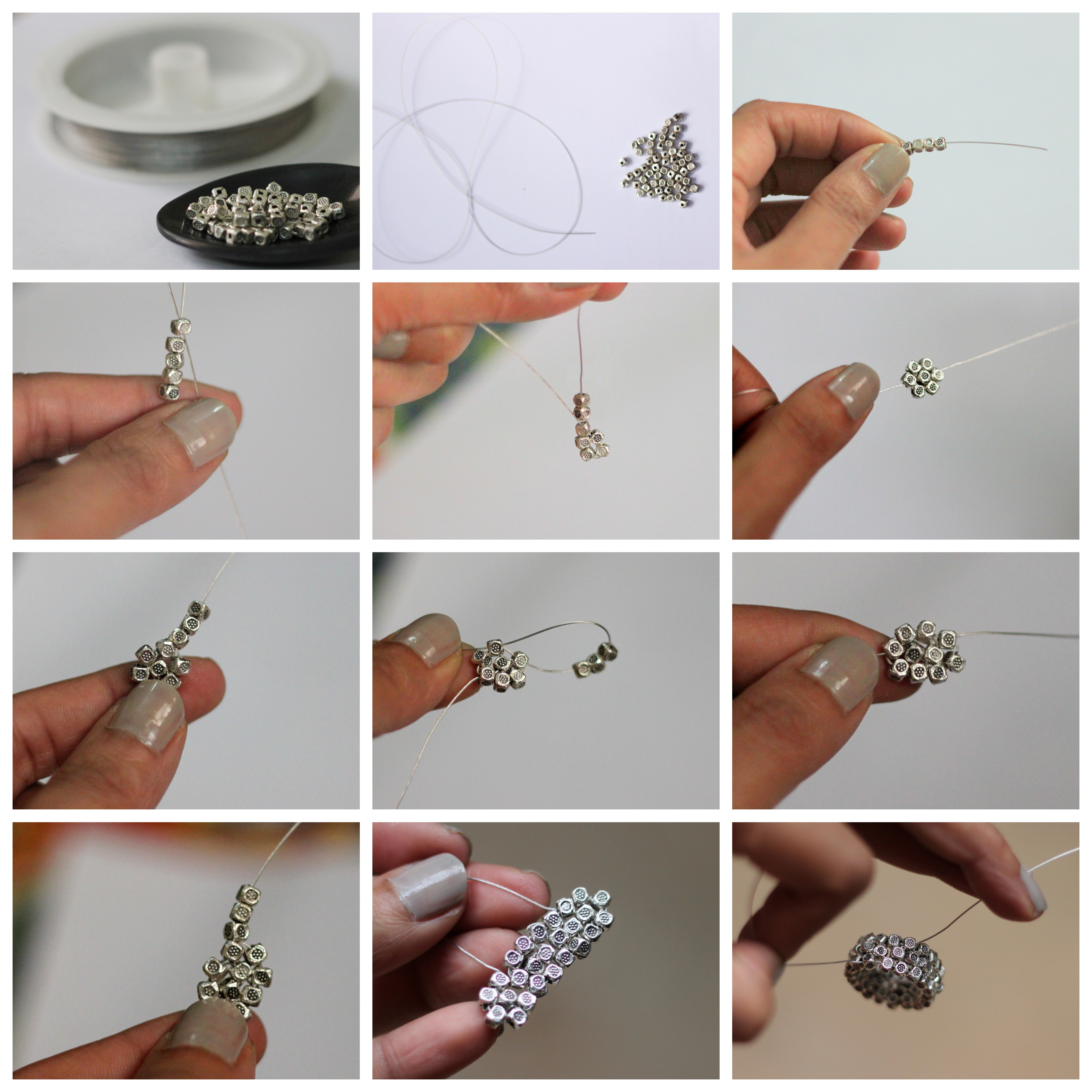 Diy Silver Bead Ring Style Inked